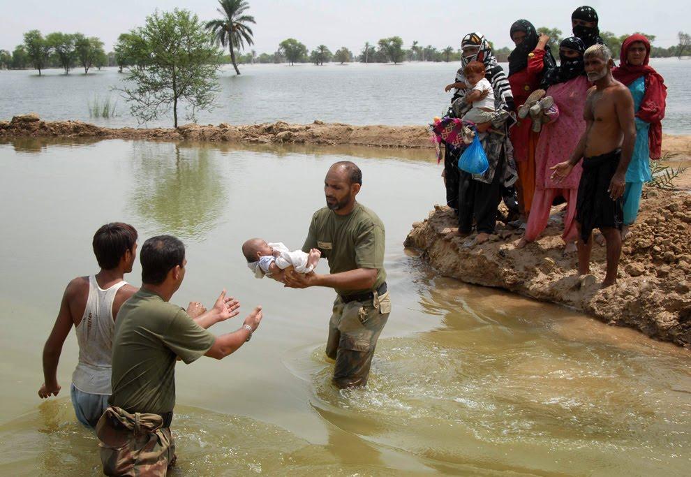 new flood in village